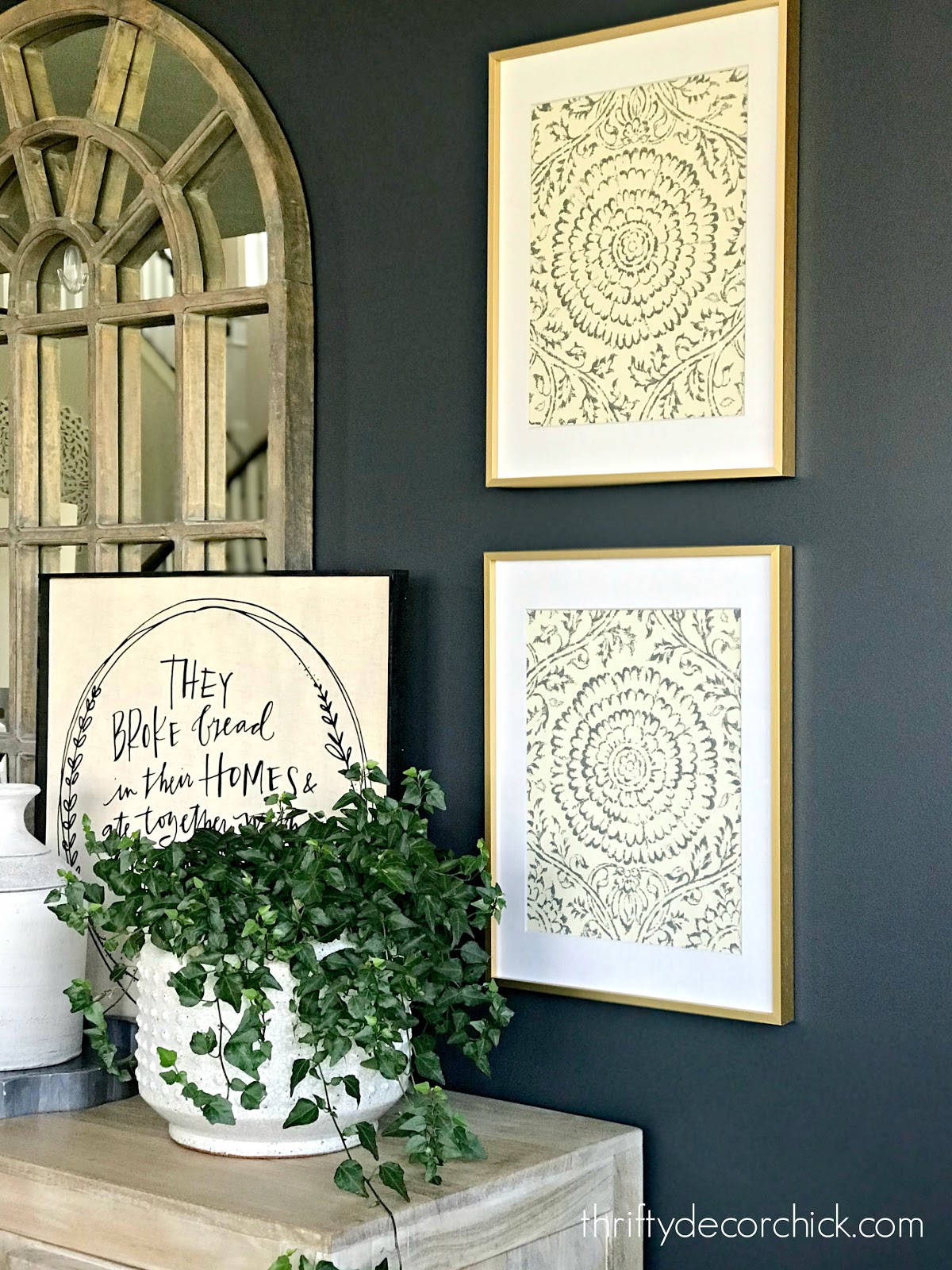 Wallpaper in frames