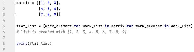 Matrix flattening in Python