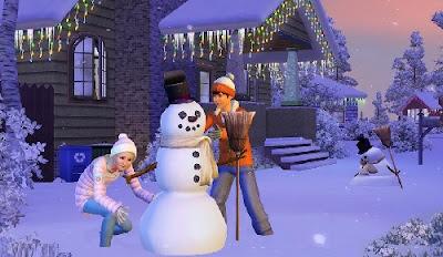 Sims 3, haciendo un muñeco de nieve