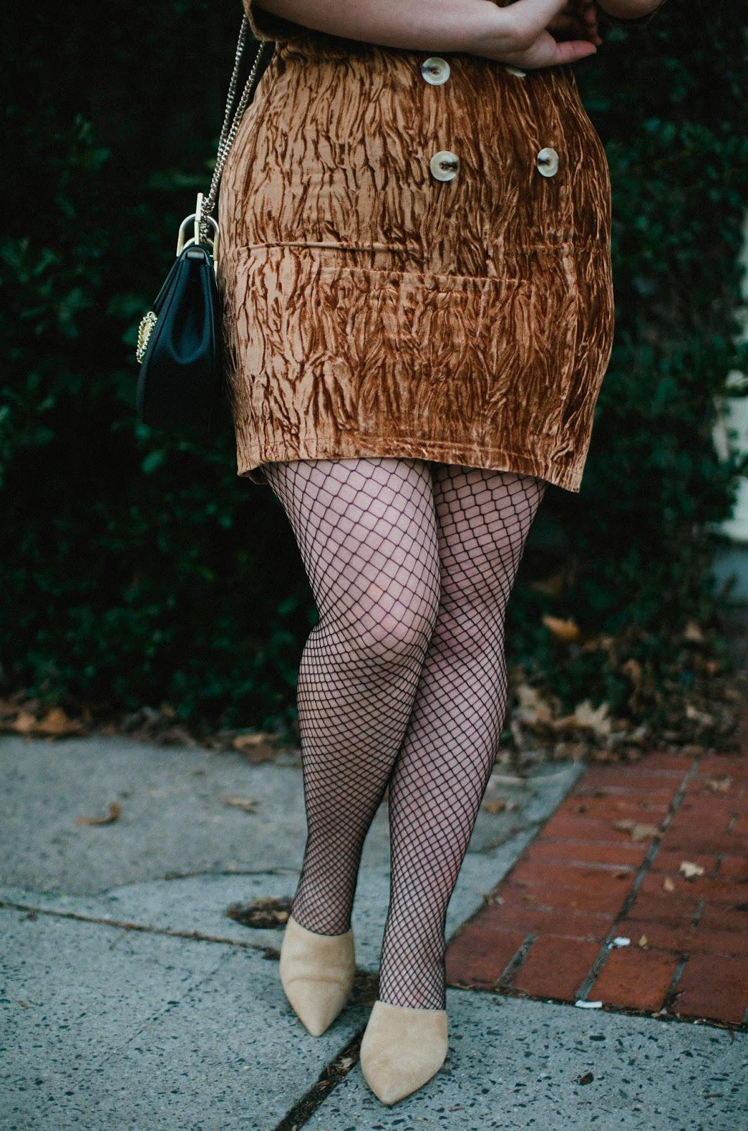 fishnet, street, style, velvet