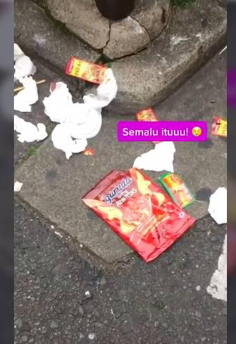Bikin Geram! Orang Indonesia Buang Sampah Sembarangan di Jepang