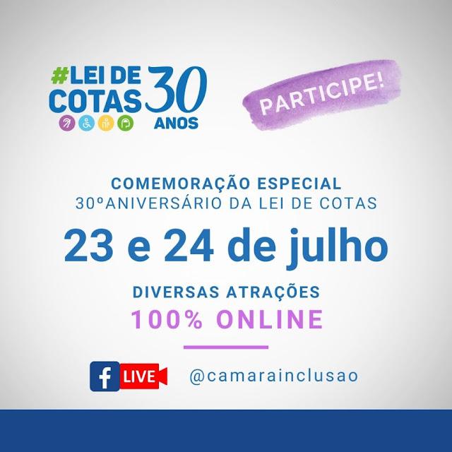 Lei de Cotas comemora 30 anos com evento on-line