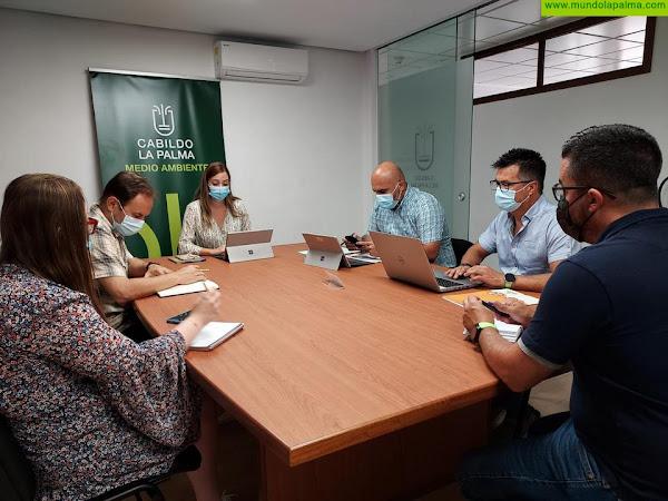 El Cabildo coordina con Gesplan las acciones para apoyar a las personas afectadas por el incendio
