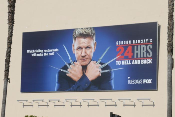 Gordon Ramseys 24 Hrs to Hell Back season 3 Wolverine spoof billboard
