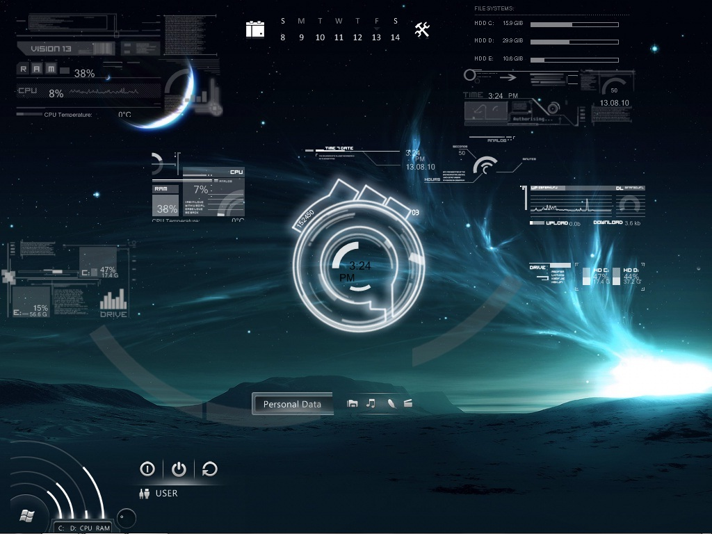 Droid-Dna: Redesign your desktop with Rainmeter !!!!
