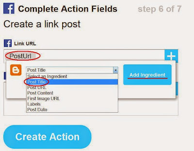 Action Fields for Facebook Wall