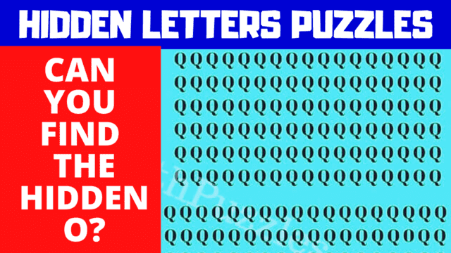 Hidden Letters Puzzles in which your challenge is to find the Odd Letter Out.