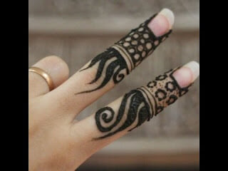 Simple indian Mehndi designs for fingers