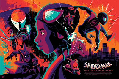 New York Comic Con 2019 Exclusive Spider-Man Into the Spider-Verse Movie Poster Regular Edition Screen Print by Tom Whalen x Grey Matter Art x Marvel
