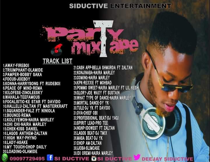 [Mixtape] Dj siductive - Party mixtape ( 39 tracks mixtape) #Arewapublisize