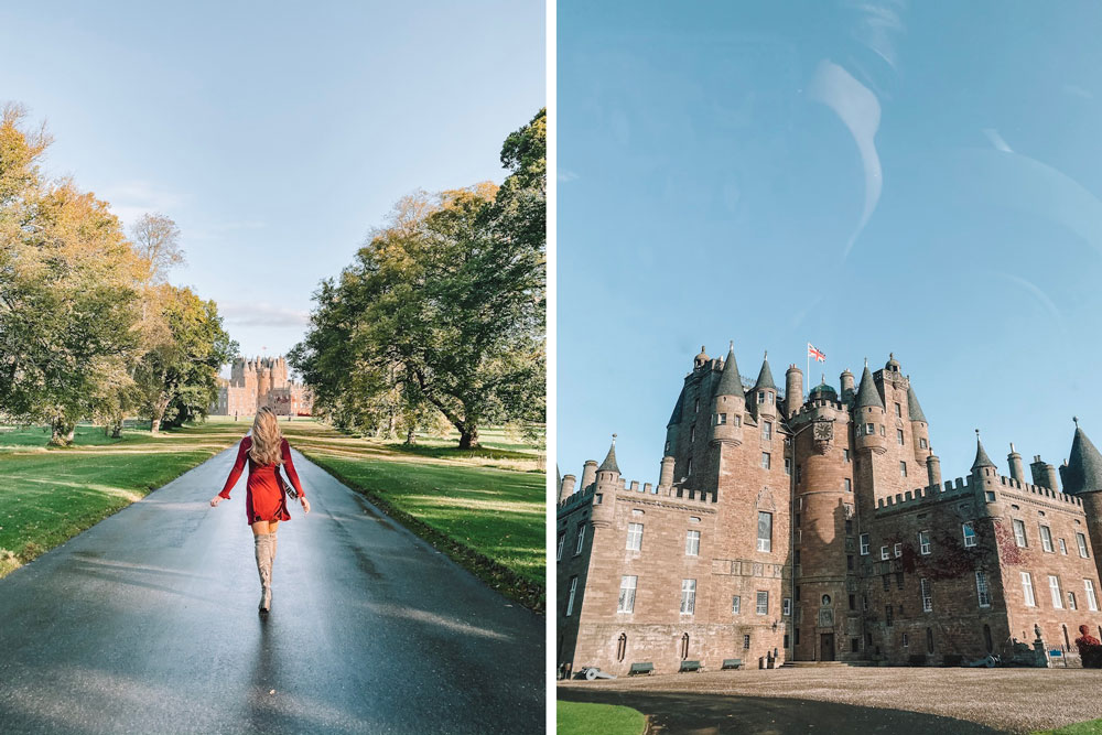 Travel blogger Amanda Martin visits beautiful Glamis Castle in Scotland