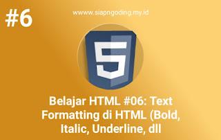 formating teks pada html