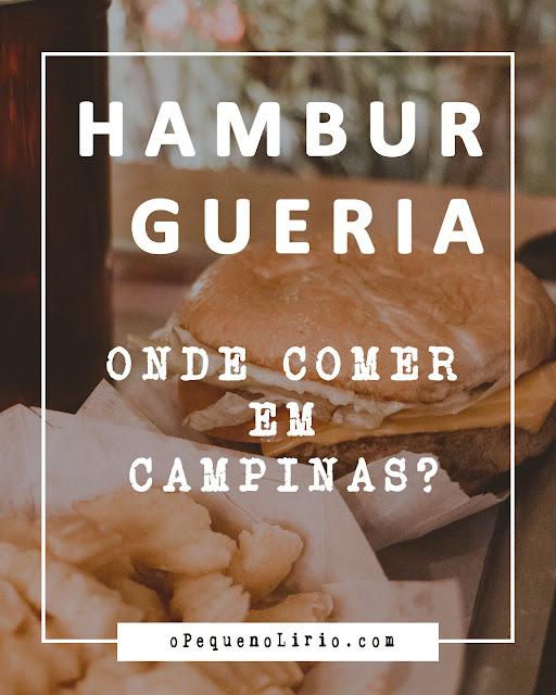 onde comer em campinas Jeronimo Burger | Campinas - SP
