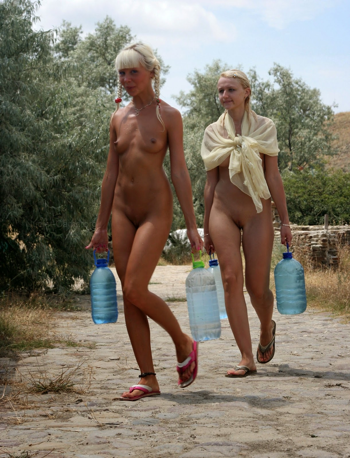 Ukrainian nudists