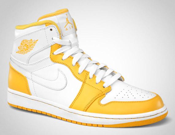 187a057118fd9f Air Jordan 1 Retro High. White White-Pine Green 332550-107. White White-University  Blue 332550-103. White White-Varsity Maize 332550-102