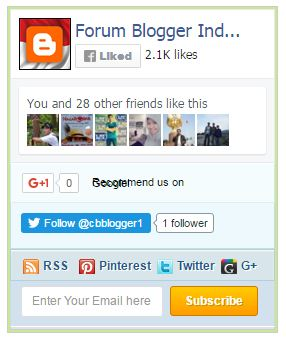 Widget Media Sosial All in One untuk Blogger