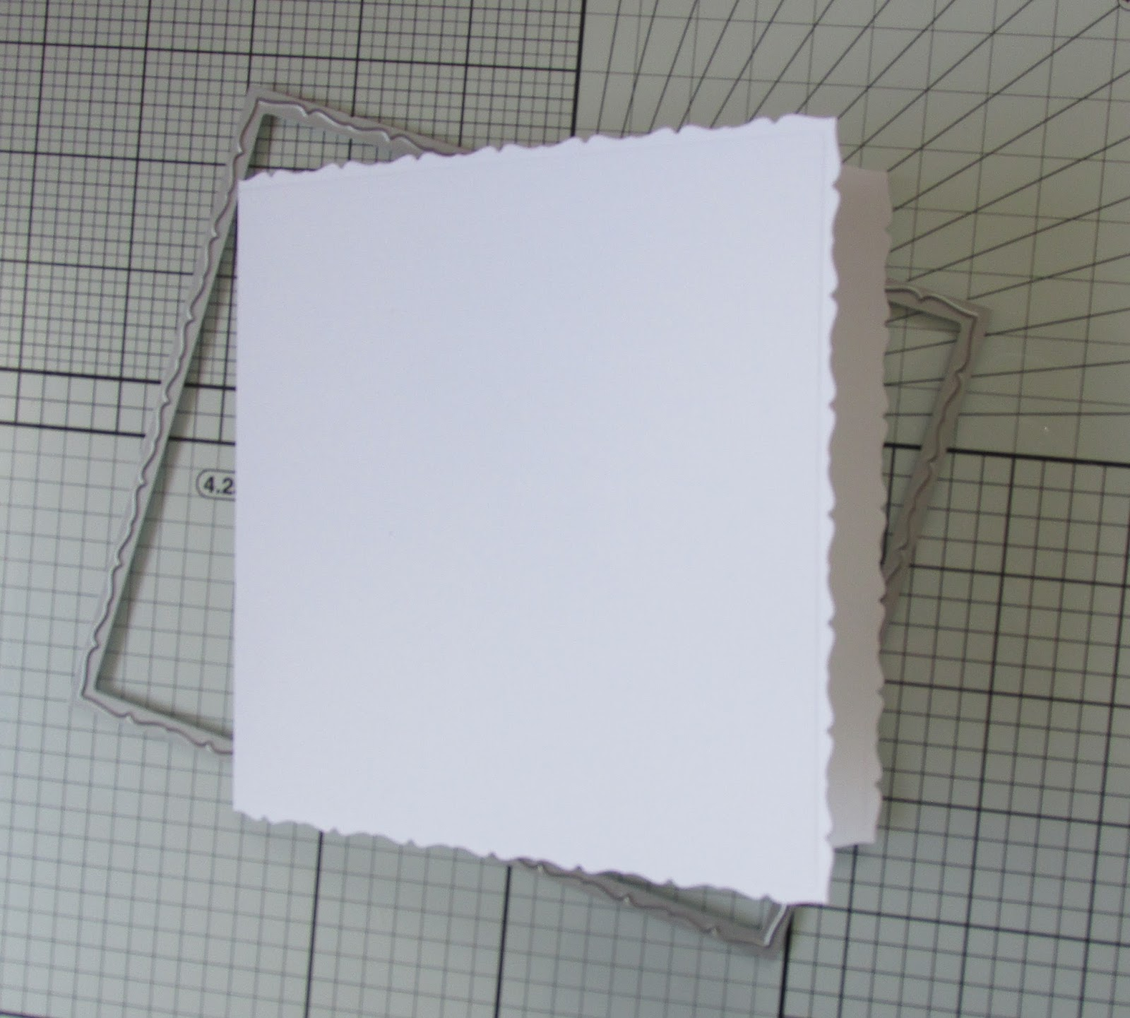 A passion for cards using tonic studios layering card blank dies you will now have a decorative edged card blank m4hsunfo