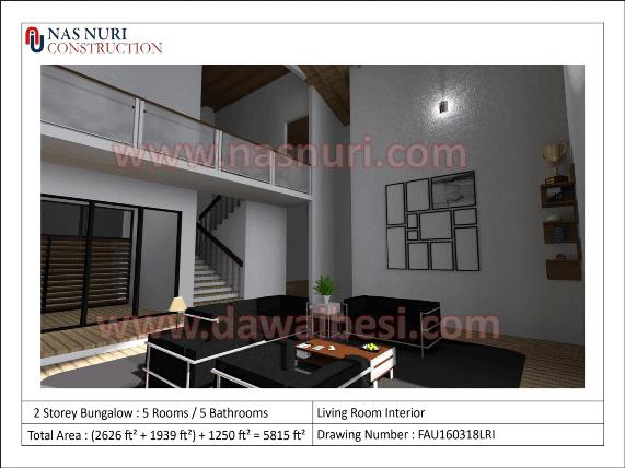 interior designer rumah banglo 2 tingkat living room