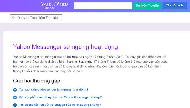 Ngày cuối cùng của Yahoo! Messenger