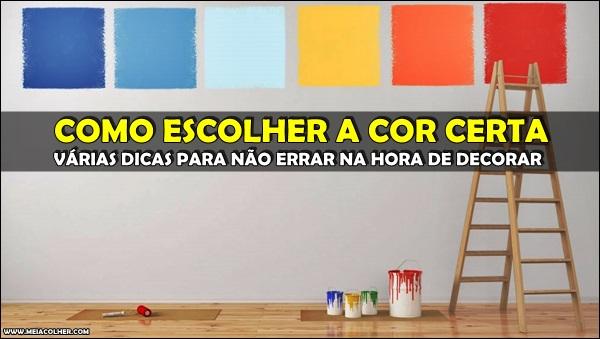 escolha da cor da casa