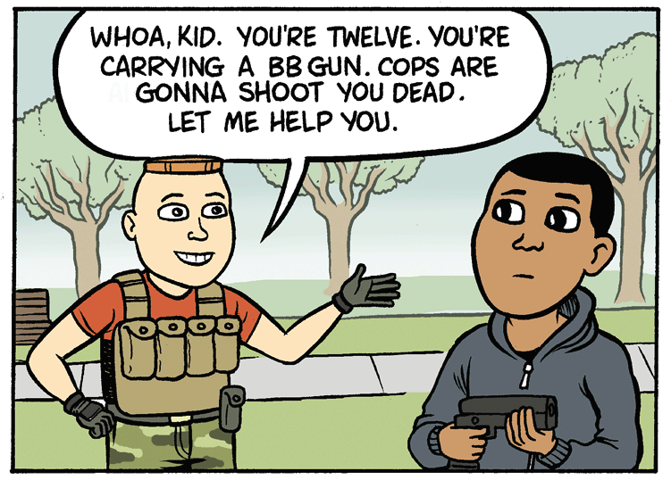 Maybe Let's Stop Killing Black Kids? by Matt Bors.