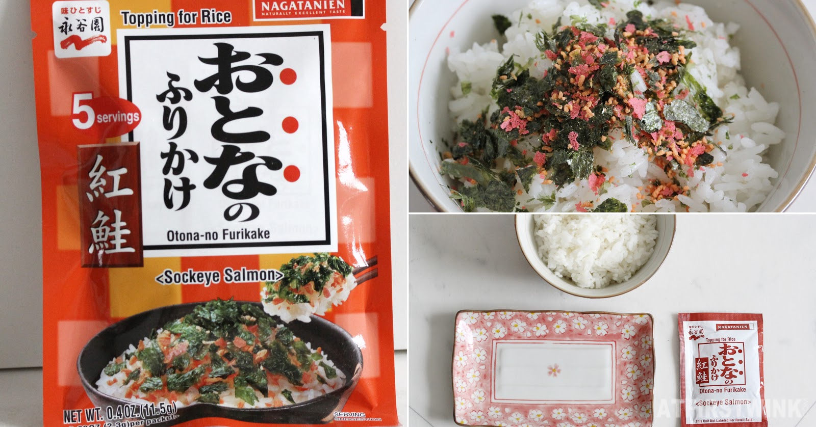 Nagatanien topping for rice furikake sockeye salmon flakes nori