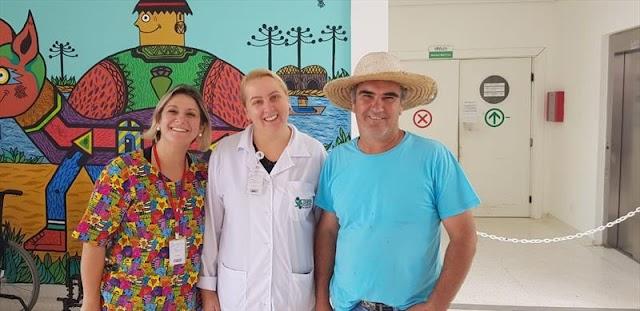 Associação doa hortifrútis para funcionários da Saúde no Campo de Santana