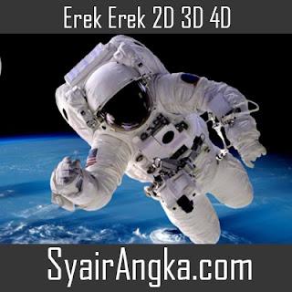 Erek Erek Menjadi Astronot 2D 3D 4D