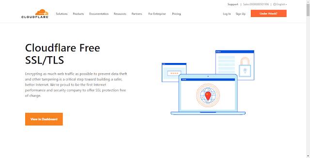 Cloudflare Website Homepage Screnshot