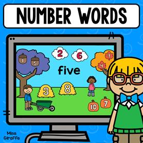 Number words 1-10 digital math game! So fun!