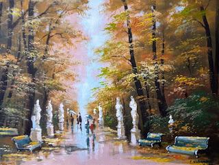 Картина-летний-сад-осенний