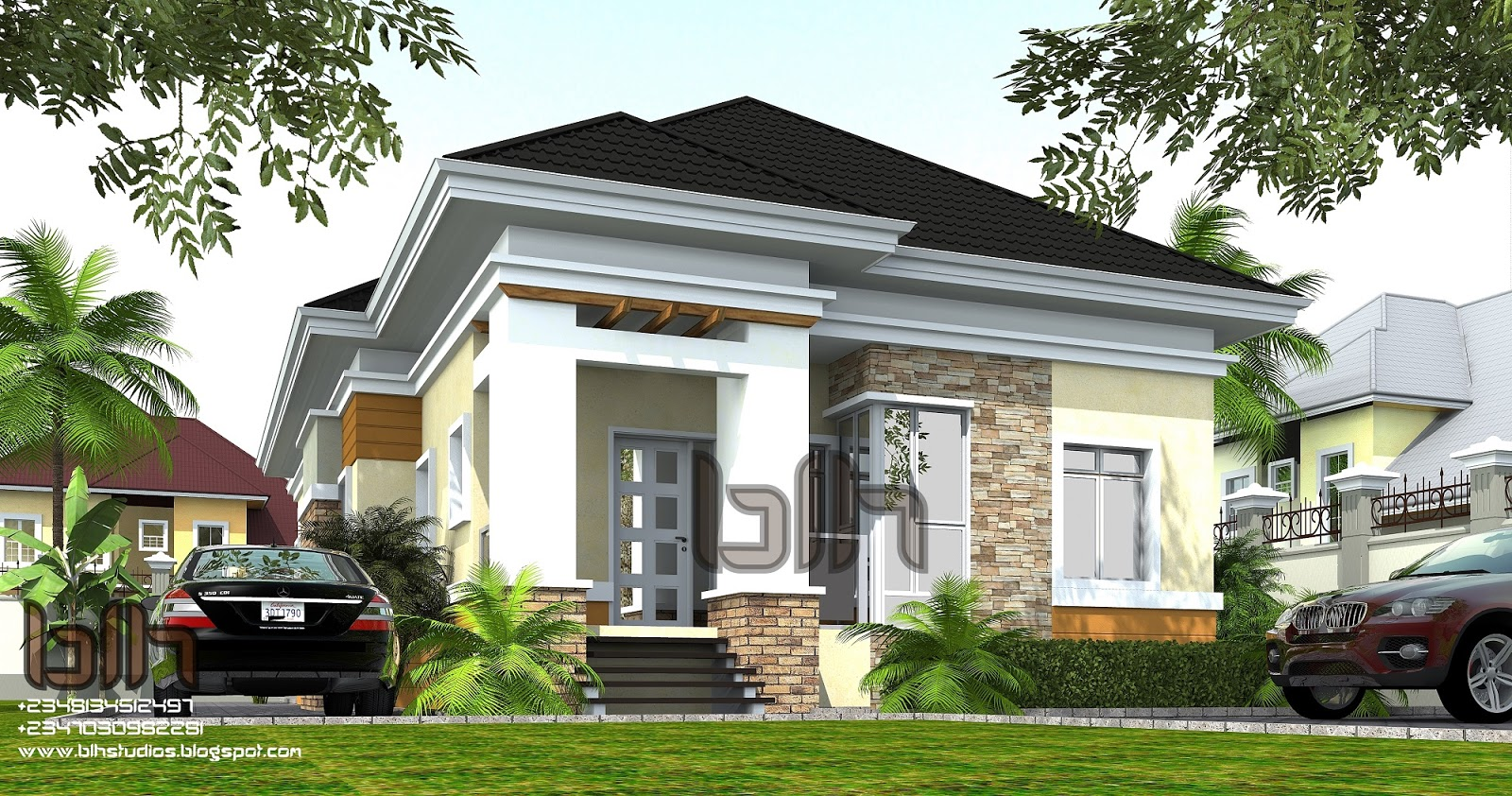 Architectural designs by blacklakehouse 3 bedroom for 4 bedroom bungalow architectural design