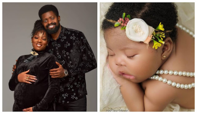 I now have to buy a new gun- Comedian basket mouth shares cute photos of his baby girl maya