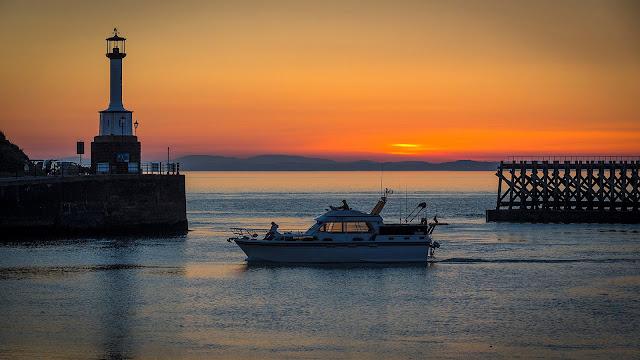 Photo of Ravensdale returning to Maryport just after sunset. Photo by Jan Fialkowski