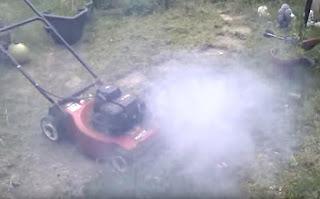 Lawn Mower Blow Out Black Smoke