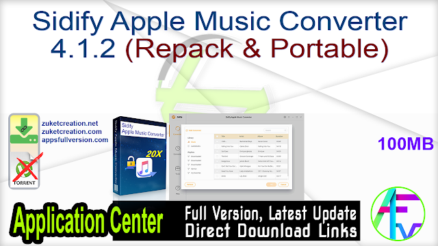 Sidify Apple Music Converter 4.1.2 (Repack & Portable)