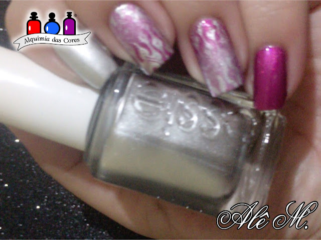 No Place Like Chrome, Jamaica Me Crazy, Essie, Metallic, Silver, Magenta, Alê M.