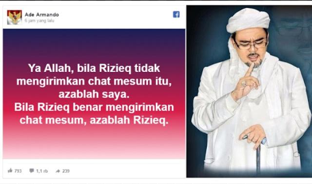 """Tegaskan Siap Diadzab, Ade Armando Menerima Tantangan """"Mubahalah"""" Habib Rizieq Terkait Chat Mesum"""
