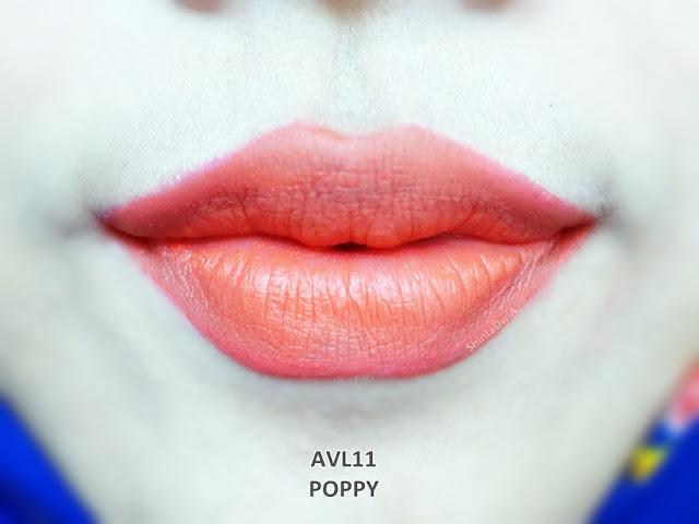 review absolute new york velvet lippie poppy