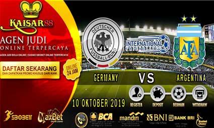 PREDIKSI BOLA TERPERCAYA GERMANY VS ARGENTINA 10 OKTOBER 2019