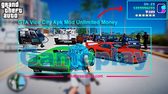 Gameplay GTA Vice City Unlimited Money