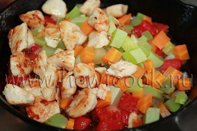 рецепт пипе ригате с куриным филе и овощами с пошаговыми фото