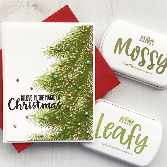 Sunny Studio Stamps: Holiday Style Customer Card by Lieschen Harshbarger