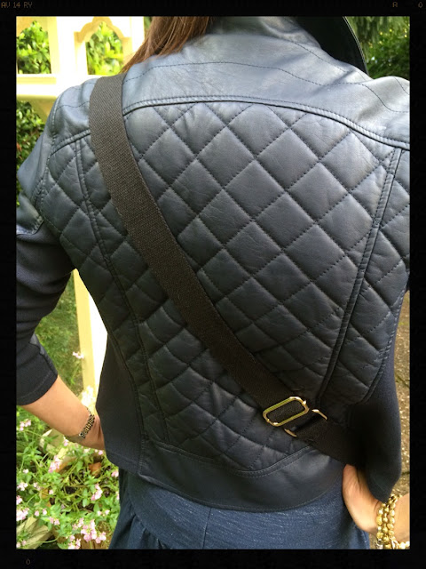 My Midlife Fashion Faux leather Quilted Biker Jacket Marks and Spencer