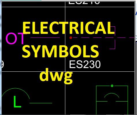 Electrical Symbols Dwg Autocad Civil Engineering Program