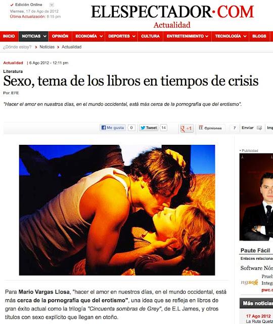 ElEspectador.com   Sexo, tema de los libros en tiempos de crisis: ¿todavía no has leído las 1.001 fantasías?