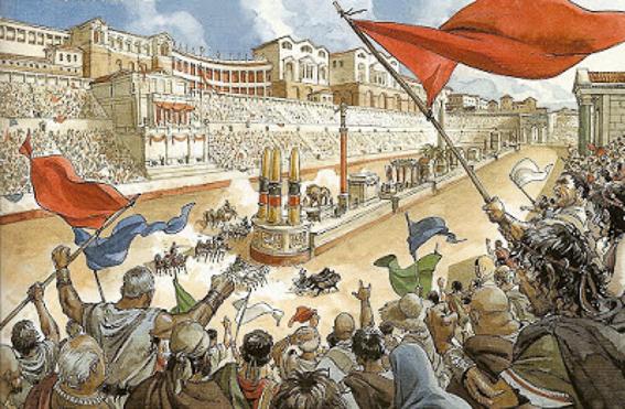 Carrera de cuádrigas. Circo de Roma
