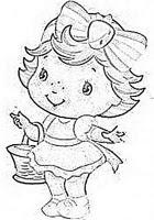 desenho moranguinho baby com cesta para pintar em fraldas