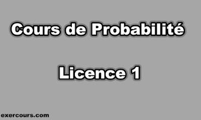 Cours de Probabilité Licence 1