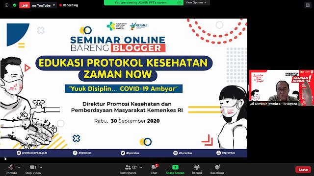 Seminar blogger ditpromkes